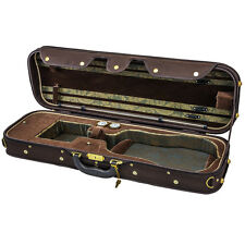 NEW Top Grade Deluxe Quality Solid Wood 4/4 Size Acoustic Violin Fiddle Case W6