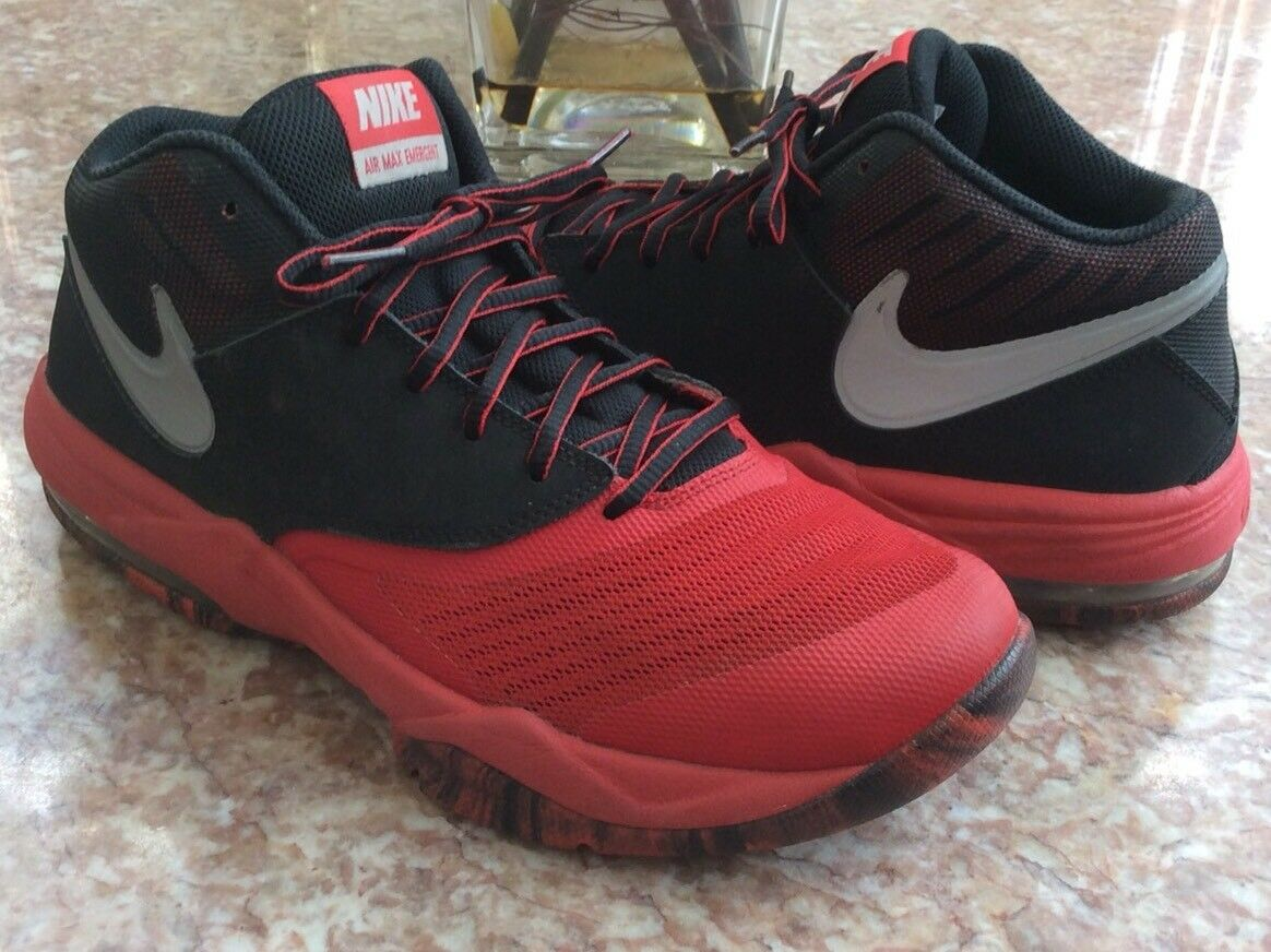 Nike Max Air Emergent Men's Red Black Basketball Shoes Comfortable