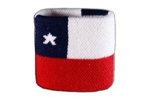 Schweisband-drapeau-drapeau-chili-7x8cm-Bracelet-de-sport
