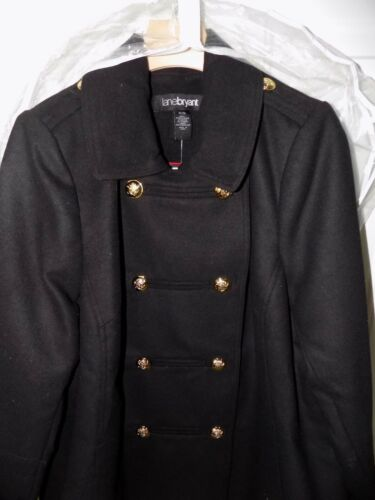 Lane Coat Plus Double Ny Peacoat 18 170 Black 20 Military Bryant Breasted rHaAwr