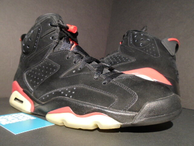 2009 NIKE AIR JORDAN VI 6 RETRO BLACK VARSITY RED BRED WHITE OG 384664-061 12