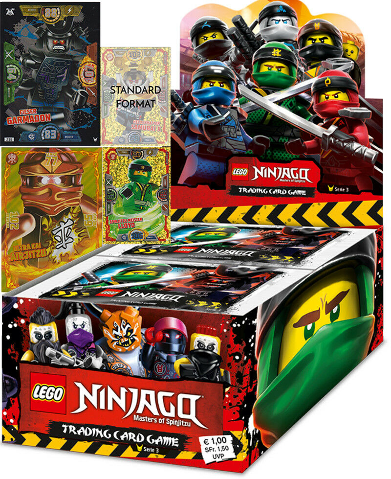 Lego Ninjago Series 3 Trading Cards - 1 Display + le1 + 2 Oversized Cards