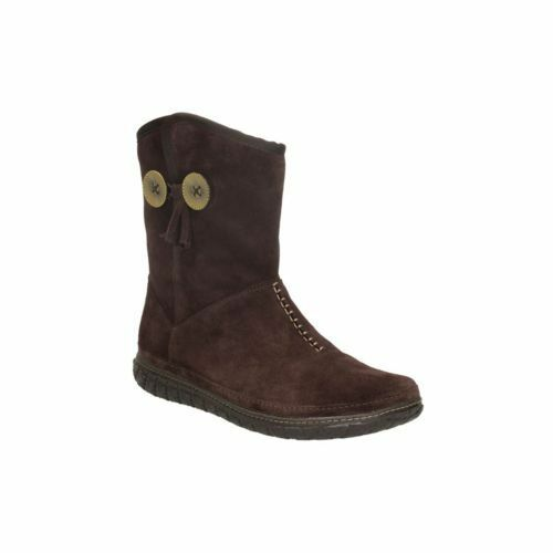 New Size Boots Ladies 37 Clarks Dip Brown D Suede Warmed Ankle Moray 4 nwxAqZ87B