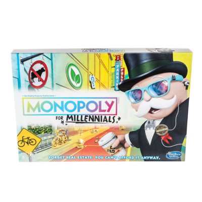 Monopoly for Millenials Board Game By Hasbro LIMITED EDITION!