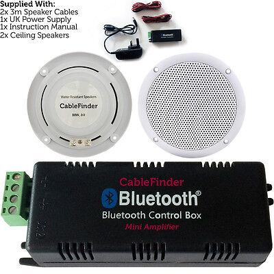 Wireless Bluetooth Amplifier 2x 80w Ceiling Speaker Kit Compact Home Hi Fi Amp Ebay