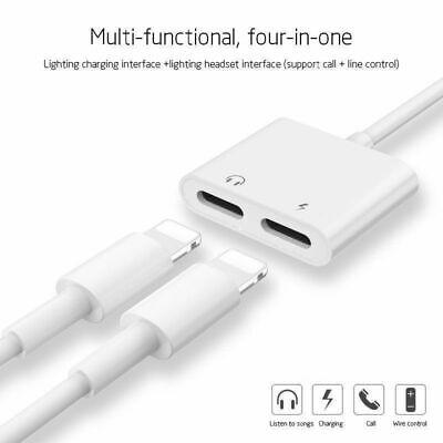 online retailer 142b3 93170 Dual Lighting Adapter iPhone 7 8 X Splitter 2 in 1 Charger and Headphone  Jack WT   eBay