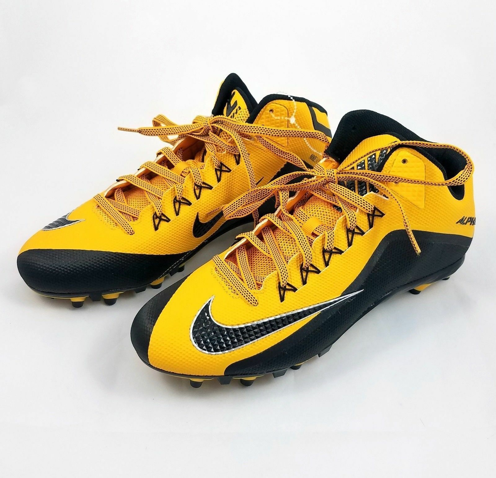 NIKE ALPHA PRO 2 TD PP 3 4 MID FOOTBALL CLEATS 729444-725 MSRP  STEELERS