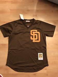 info for aefee a91a6 Details about Tony Gwynn San Diego Padres Jersey Mesh Batting Practice  Brown Throwback Men SD