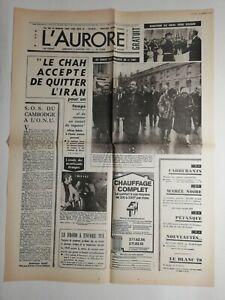 N201-La-Une-Du-Journal-l-039-aurore-3-janvier-1979-le-chah-accepte-de-quitter-l-039-iran