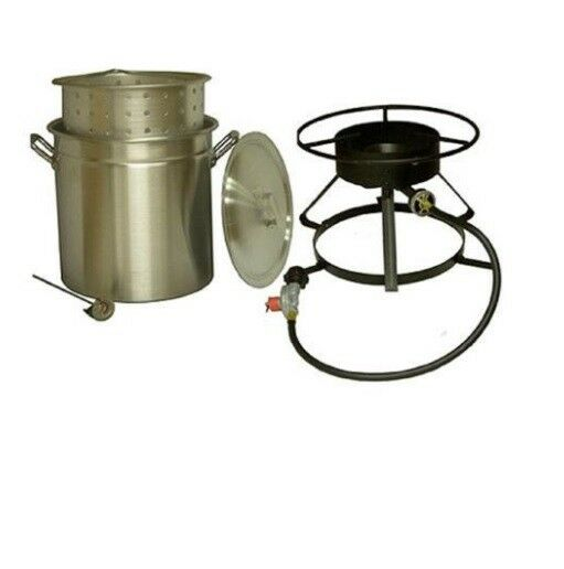 Kitchen Appliances 50 Qt. Aluminum Pot and Cooker Pkg Home Outdoor Cooker Burner