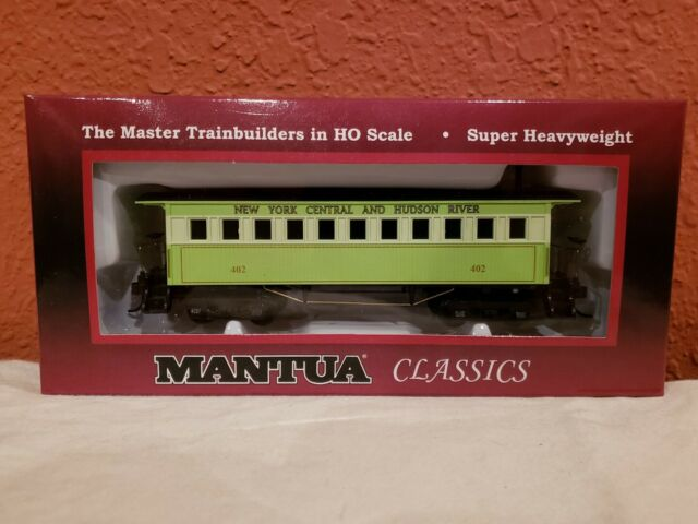 HO MANTUA 1860  WOODEN PASSENGER CAR #717100. NYC & HUDSON. COACH.