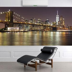 1819WS WALL MURAL PHOTO WALLPAPER XXL New York City Skyline Brooklyn Bridge