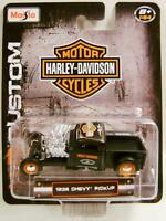 1936 '36 Chevy Truck Harley Davidson Motor Cycles Hd Diecast 1:64 Maisto 2015