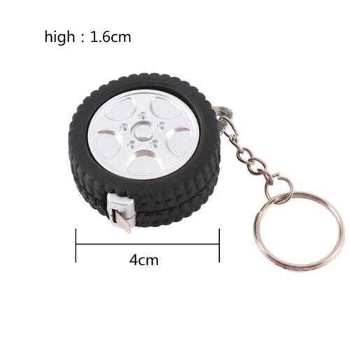 Rétractable Portable 1 M pneu de forme Doux Keychain mesures Règle Ruban Porte-clés