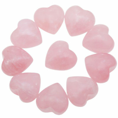Rose Quartz Palm Stone Crystal Worry Pocket Stone Heart Chakra Velvet Pouch Gift