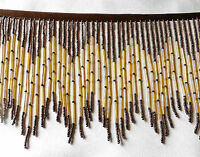 Brown And Black With Three Upgraded Bugles On This Glass 5 1/2 Fringe 167