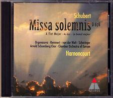 Nikolaus HARNONCOURT: SCHUBERT MISSA SOLEMNIS Luba Orgonasova Birgit Remmert CD