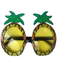 Pineapple//Cocktail Glasses Beach Hawaiian Theme Fancy Dress Accessory