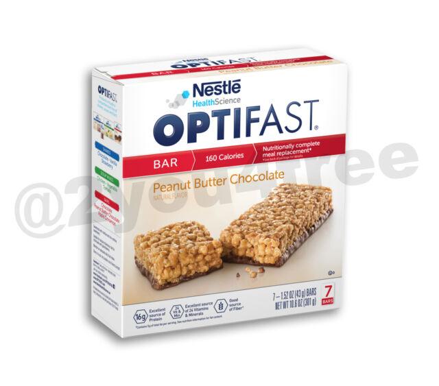 The Optifast Program Bars Flavor Varieties 6 Boxes 42 Servings Fresh