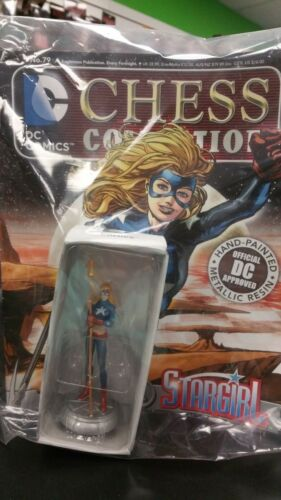 MAG #79 STARGIRL WHITE PAWN SEALED DC COMICS EAGLEMOSS CHESS COLLECTION PIECE