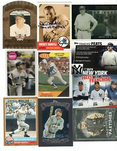 Babe Ruth Mickey Mantle Yankees Inserts Reprints Facsimile Auto's Lowered prices