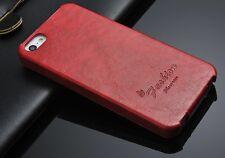 Apple iPhone 5s/5 Hülle Tasche Klapp Etui Flip Case  Leder Farbe:Rot
