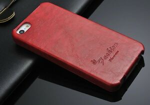 Apple-iPhone-SE-5-Schutzhuelle-Tasche-Klapp-Flip-Case-PU-Leder-Farbe-Rot-Vintage