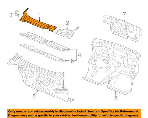 Chevrolet GM OEM Spark-Cowl Panel Windshield Wiper Motor Cover Right 95328700