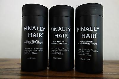 HAIR LOSS CONCEALER HAIR BUILDING FIBERS 84 g FILLER THICKENING FIBER 3PAK USA