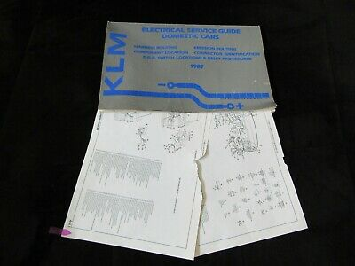 1987 Chrysler Lebaron Coupe Convertible Wiring Diagrams Manual Sheets Set Ebay