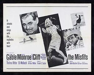 THE MISFITS CineMasterpieces ORIGINAL VINTAGE MOVIE POSTER ...