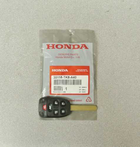 Genuine OEM Honda Odyssey Touring 11-13 MEM# 2 Remote Key 6 Button 35118-TK8-A40