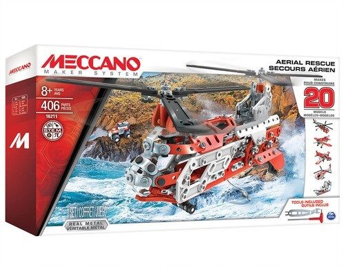 Meccano 16211 - 20 Models Set - Aerial Rescue Helicopter set   - New & Boxed
