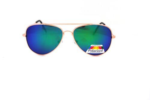 Blue Green specchio Aviator Polarizzato Occhiali Da Sole Pilot Classic Uomo Donna