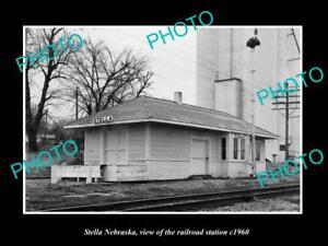 OLD-LARGE-HISTORIC-PHOTO-OF-STELLA-NEBRASKA-THE-MKT-RAILROAD-STATION-c1960