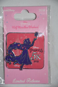 Run Disney Pin 2018 Princess Half Marathon Weekend Rapunzel 5K Medal Pin