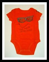 77kids By American Eagle Funny Face Bodysuit Boys 0-3 3-6 6-12 Months