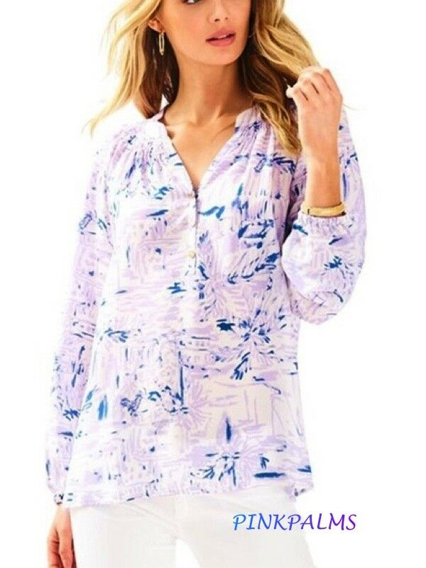 NWT Rare   Lilly Pulitzer Elsa Lilac Verbena Rock The Dock XXS,S SOLD OUT