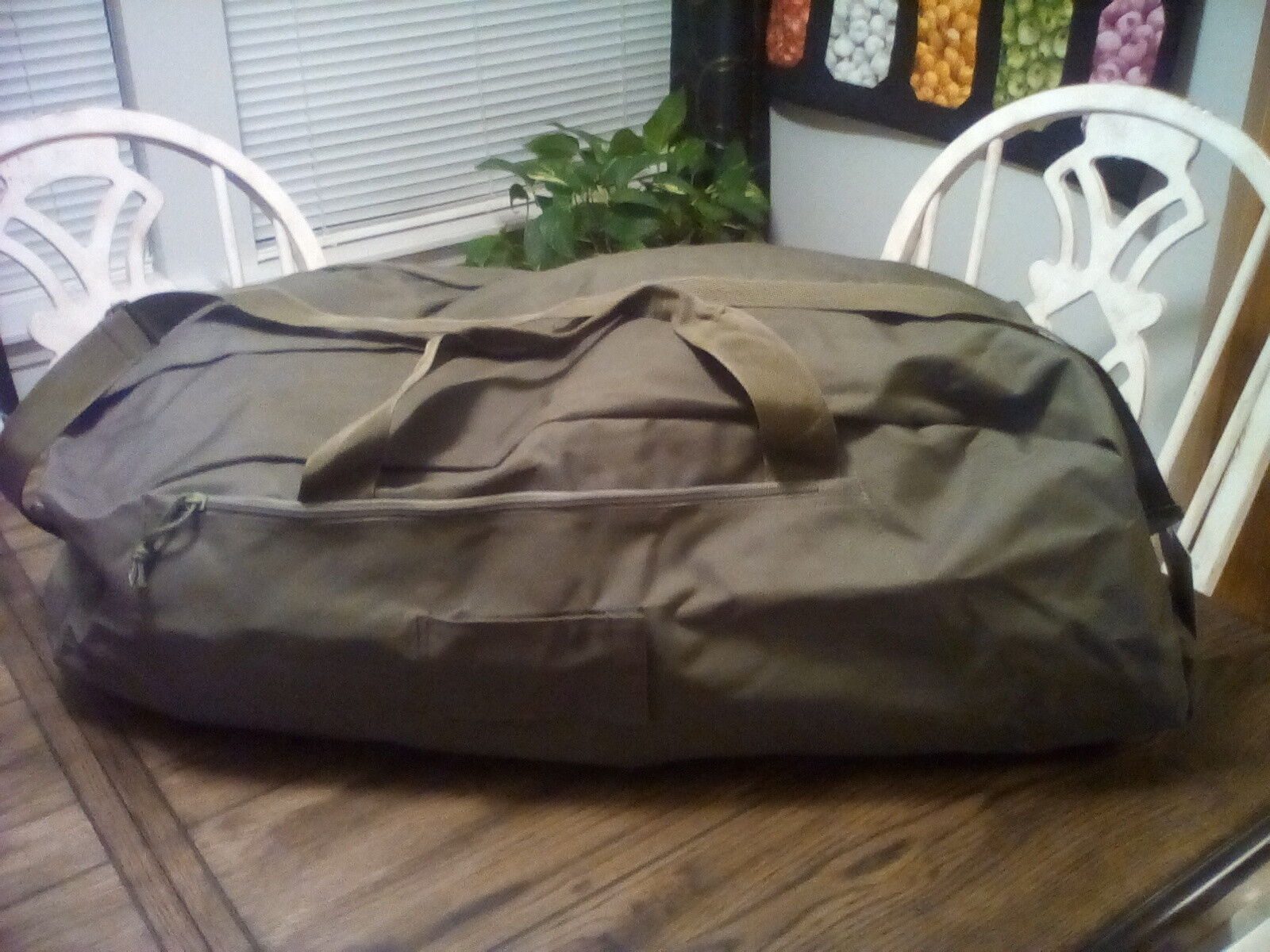 5ive Star Gear Large Tactical Duffel Bag, LDB-5S, 30x13x10 made of heavy canvas