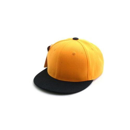 52~54Cm Kids Boys Baby Girls Casual Solid Color Plain Baseball Cap Snapback Hats