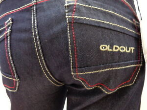 Oo Jeans OLD OUT de Base Stretch Piqûre Rouge 4001750004