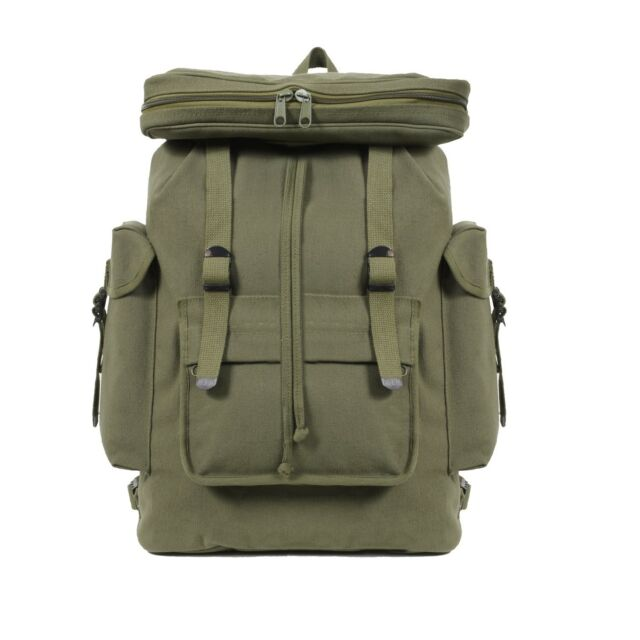 Rucksack Backpack Cotton Canvas Reproduction of the Original WW2 Many Colors