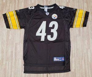e0e91cb5a Image is loading Pittsburgh-Steelers-43-Troy-Polamalu-Reebok-NFL-Black-