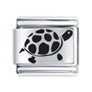 9mm-Italian-Charms-L106-Laser-Charm-Turtle-Tortoise-Fits-Classic-Size-Bracelet