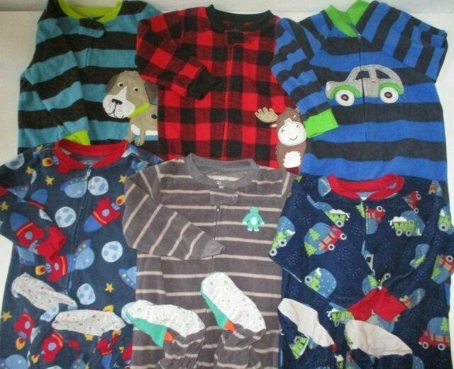 2t Boys Pajamas Lot Bundle Footsies Carters Child Of Mine