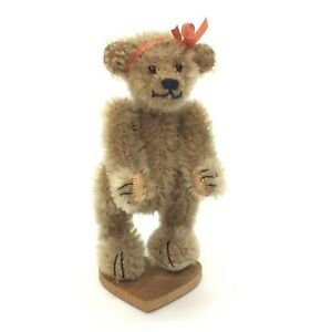 Little-Gem-Mini-Mohair-Style-No-No-Teddy-Bear-Amber-Chu-Ming-Wu-Jointed-3-5-034
