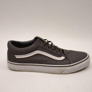 New Vans Mens Old Skool Pewter Gray White Canvas Sneaker Skate Shoes ... 43b392e84
