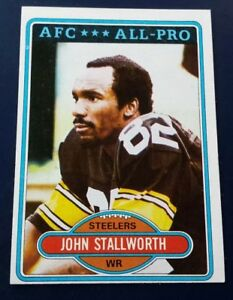 c9776bc58 Image is loading 1980-Topps-John-Stallworth-Pittsburgh-Steelers-130