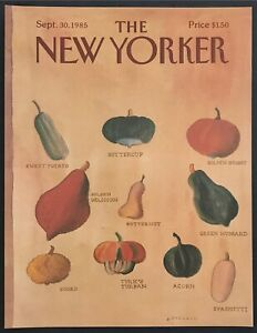 1985-Autumn-Squash-Vegetables-art-September-30-New-Yorker-Magazine-COVER-ONLY
