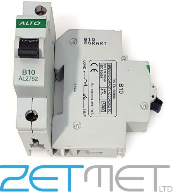 Alto AL2752-10a Type B Single Pole MCB